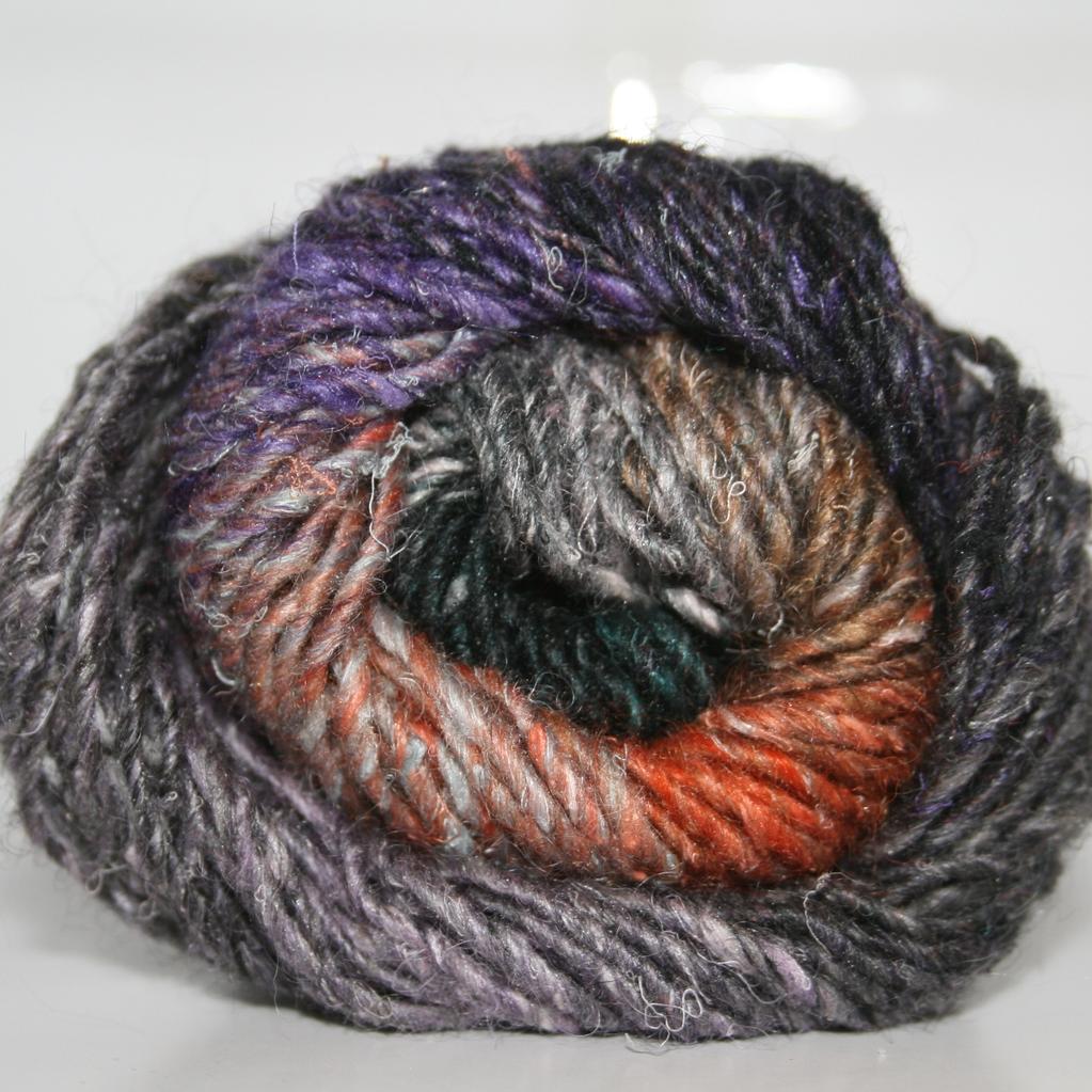 Noro Silk Garden, Black, Pink,Grey, Orange color 376 (Discontinued)