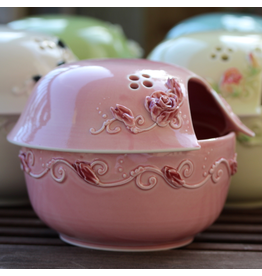 JaMpdx Covered Yarn Bowl, City of Roses Pink