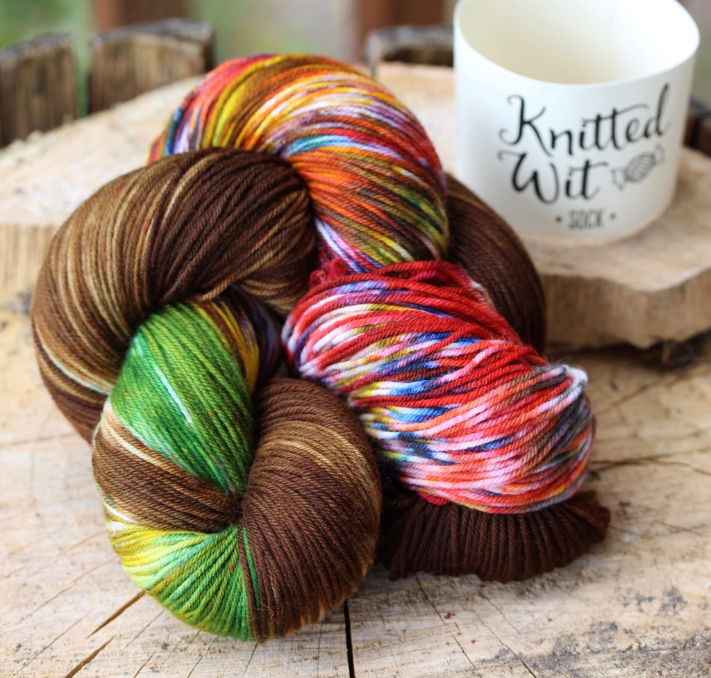 Knitted Wit Sock, Warrior (formerly Chocolate Frog)