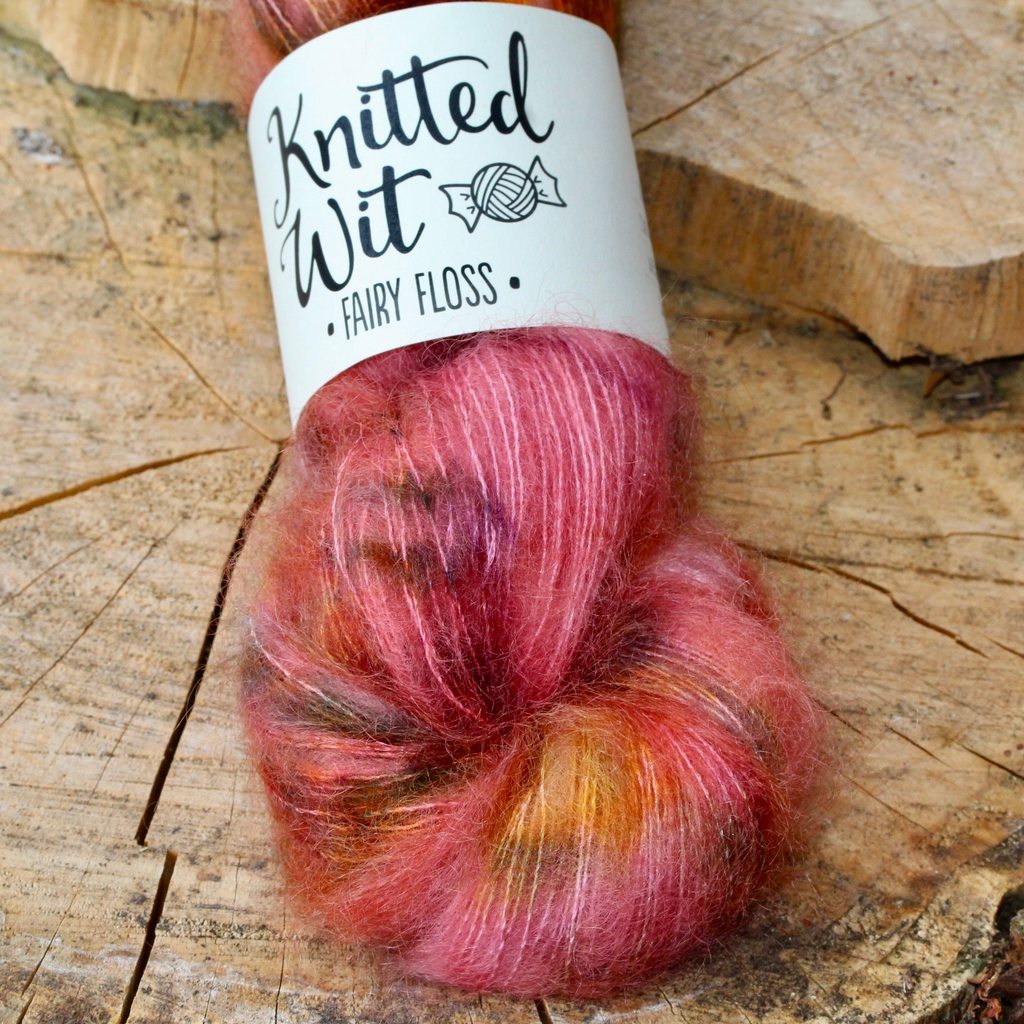 Knitted Wit Fairy Floss, Spattergroit