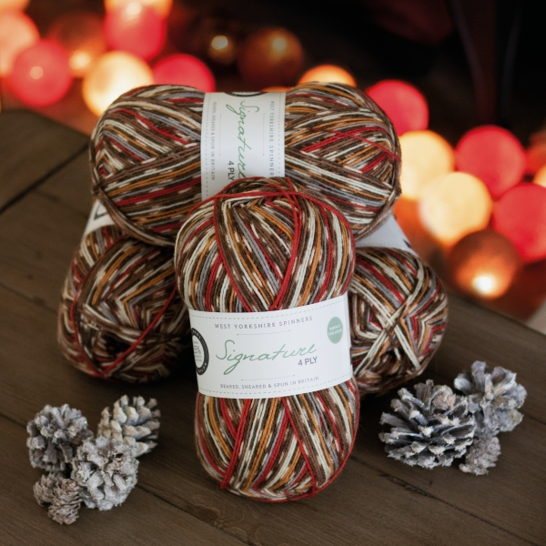 Signature 4ply Robin Weihnachts-Sockenwolle West Yorkshire Spinners