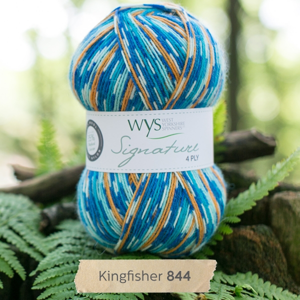 West Yorkshire Spinners Signature 4ply, Kingfisher 844