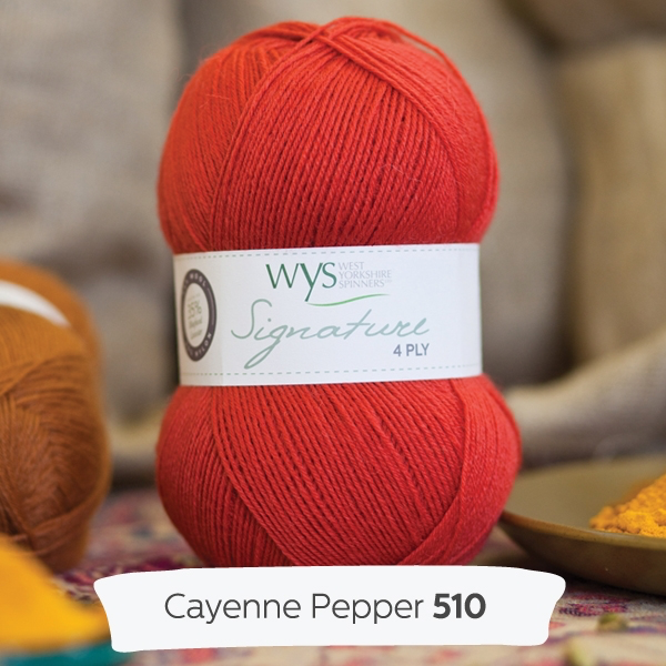 West Yorkshire Spinners Signature 4ply, Cayenne Pepper 510