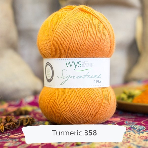 West Yorkshire Spinners Signature 4ply, Turmeric 358