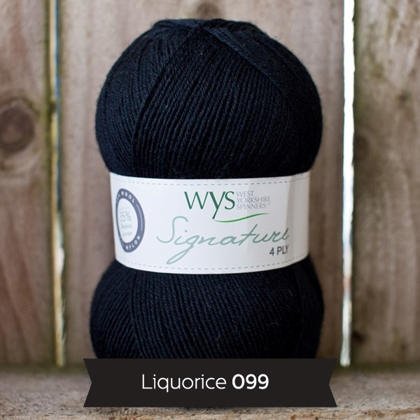 West Yorkshire Spinners Signature 4ply, Licorice 099