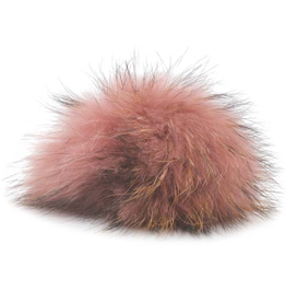 Lana Grossa PomPom, Rose / Black Tips