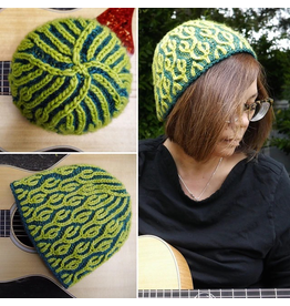 For Yarn's Sake, LLC Two-Colored Brioche in the Round: The Pastiche Hat.  Sunday February 23, 1-4pm.  Michele Lee Bernstein