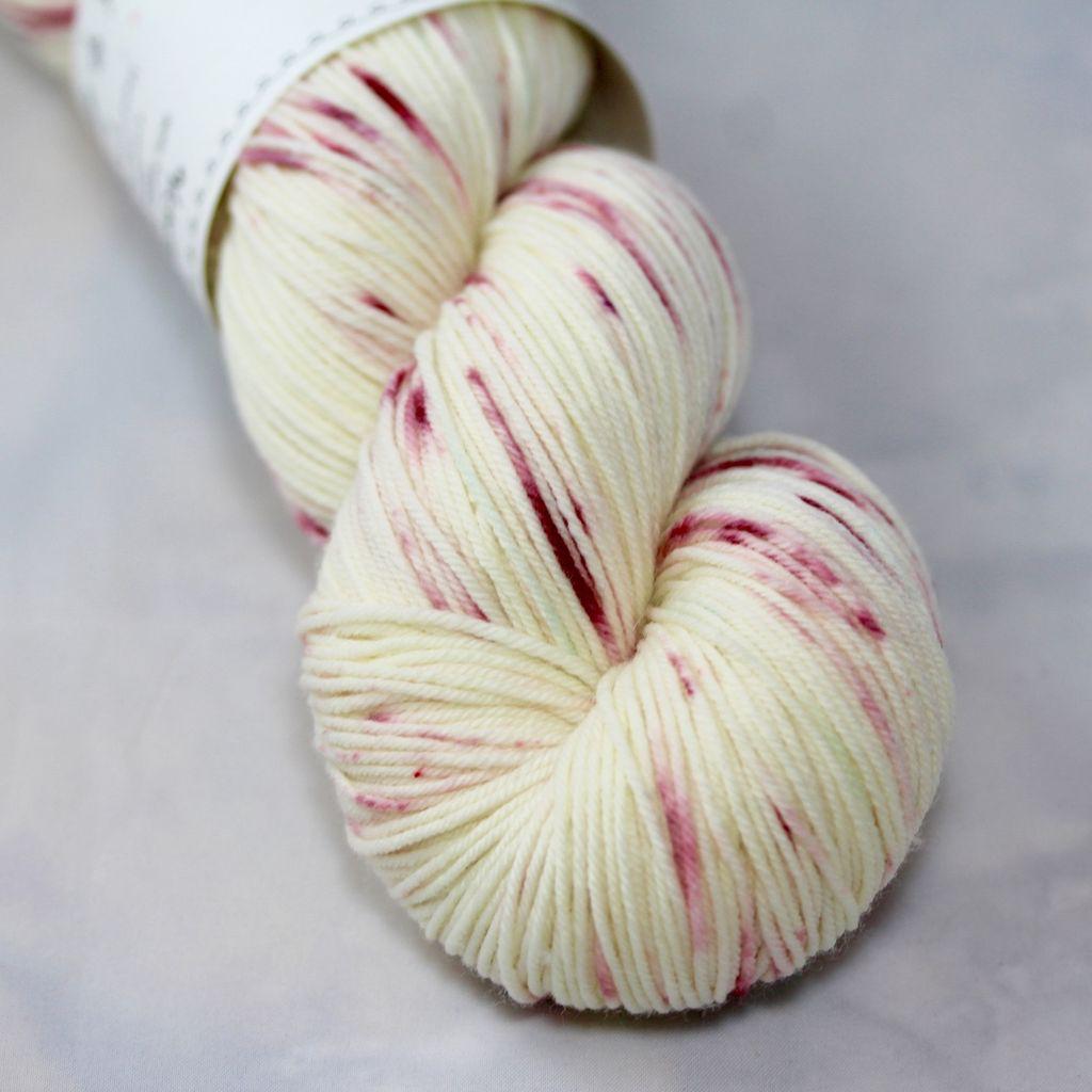 Knitted Wit Single Fingering, Snowy WinterBerries