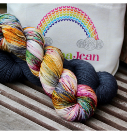 Knitted Wit The ShannaJean Club, February 2020 - Glitterati, Carbon and Watercolor Colorway