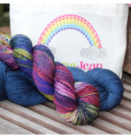Knitted Wit The ShannaJean Club, February 2020 - Glitterati, Deep Sea and Day Dreams Colorway