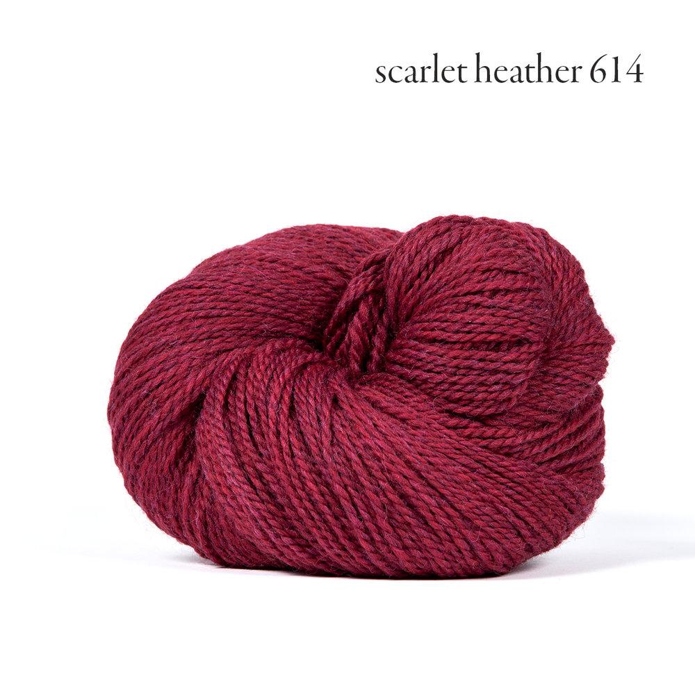 Kelbourne Woolens Scout, Scarlet Heather #614