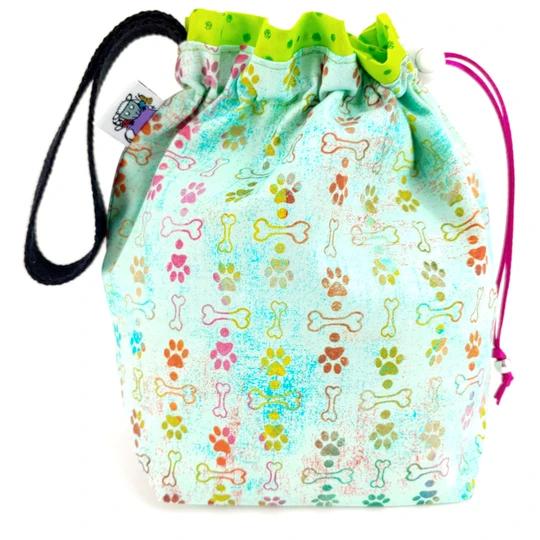Slipped Stitch Studios Medium Project Bag, Puppy Love