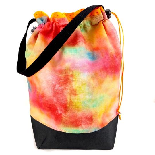 Slipped Stitch Studios Small Project Bag, Rainbow Haze