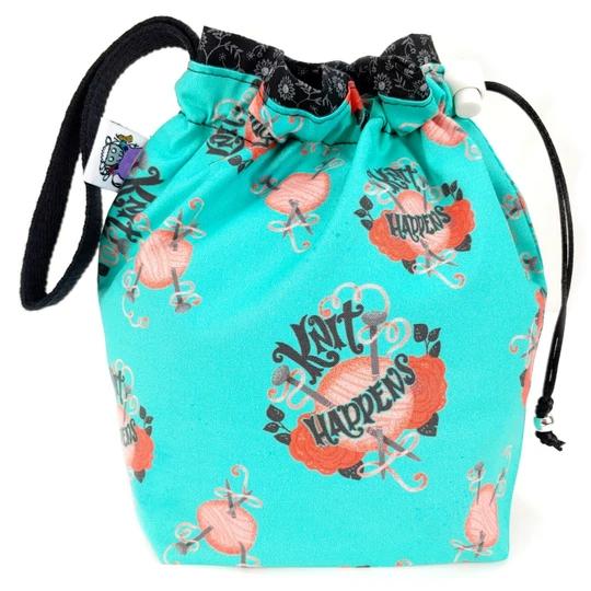Slipped Stitch Studios Medium Project Bag, Knit Happens