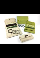 "Lykke Lykke Grove Bamboo 3.5"" Interchangeable Needle Set, Green Basketweave Case"