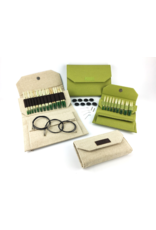 "Lykke Lykke Grove Bamboo 5"" Interchangeable Needle Set, Beige Jute Case"