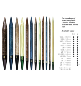 """Lykke Grove Bamboo 3.5"""" Interchangeable Needle Tips, US 10.5 (6.5mm)"""