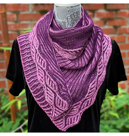 For Yarn's Sake, LLC Syncopation: 2-Color Syncopated Brioche Shawl.  Saturday May 9, 1-4pm. Michele Lee Bernstein
