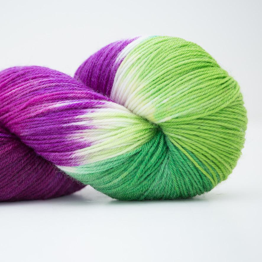 Abstract Fiber Silky Sock, Crocus