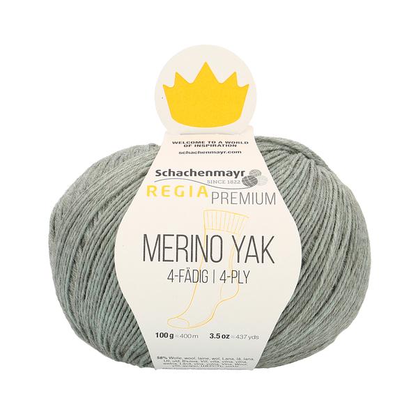 Schachenmayr Regia Premium Merino Yak, Mint Meliert (Cool Mint)