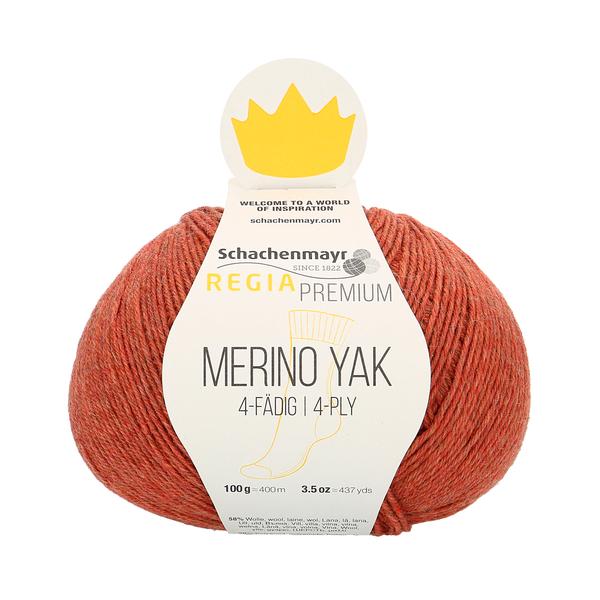 Schachenmayr Regia Premium Merino Yak, Pfirsich meliert (Salmon Pink) #7506