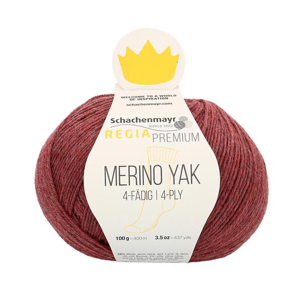 Schachenmayr Regia Premium Merino Yak, Pflaume Meliert (Dark Red) #7508