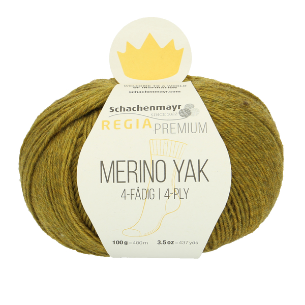 Schachenmayr Regia Premium Merino Yak, Grass Green #7516