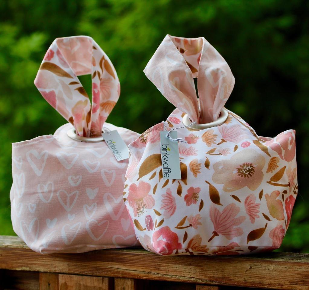 Binkwaffle Dumpling Bag - I'll Bring You Flowers.  A For Yarn's Sake Exclusive