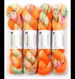 Hedgehog Fibres Hand Dyed Yarns Skinny Singles, Anemone