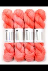 Hedgehog Fibres Hand Dyed Yarns Skinny Singles, Coral