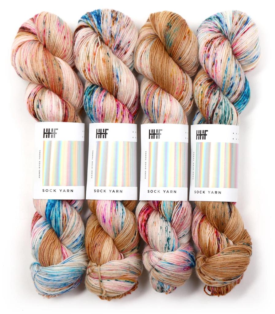 Hedgehog Fibres Hand Dyed Yarns Skinny Singles, Deja Vu