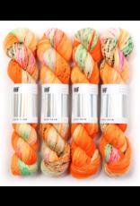 Hedgehog Fibres Hand Dyed Yarns Sock Yarn, Anemone