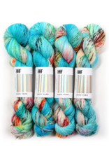 Hedgehog Fibres Hand Dyed Yarns Sock Yarn, Beach Bunny