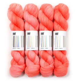 Hedgehog Fibres Hand Dyed Yarns Sock Yarn, Coral