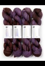 Hedgehog Fibres Hand Dyed Yarns Sock Yarn, Raven