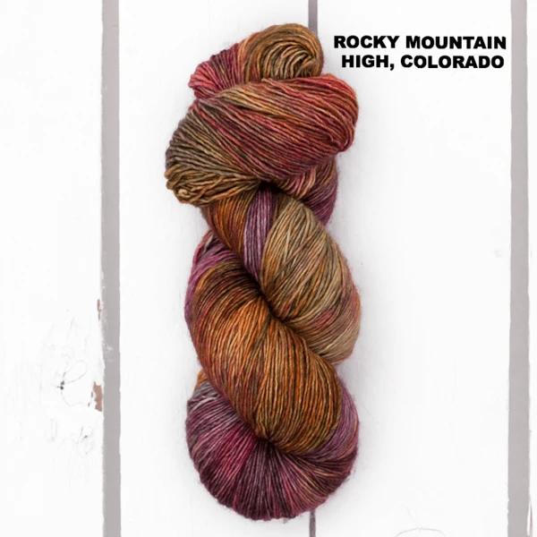 Madelinetosh BFL Sock, Rocky Mountain High, Colorado (Discontinued)