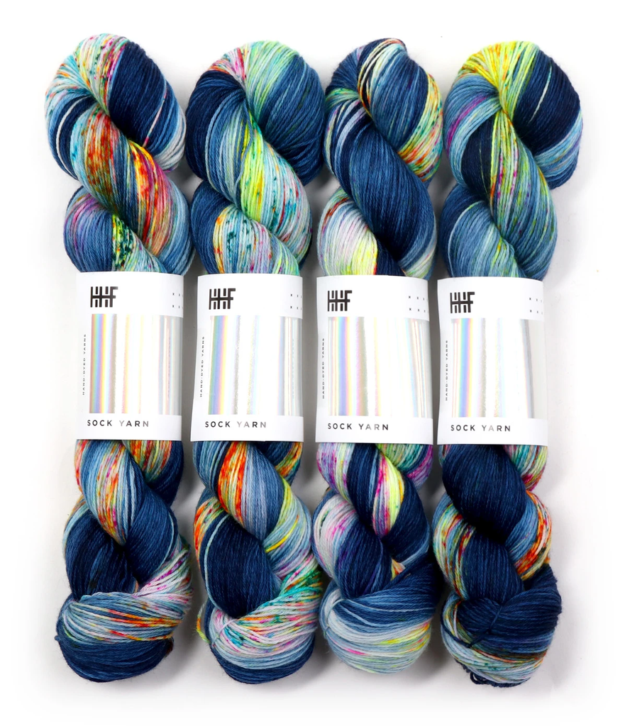 Hedgehog Fibres Hand Dyed Yarns Sock Minis, Firefly (Formerly Kimono)