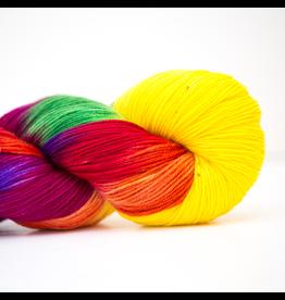Abstract Fiber Good Ole Sock, Rainbow Candy