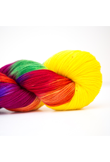 Abstract Fiber Silky Sock, Rainbow Candy