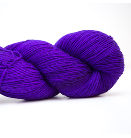Abstract Fiber Silky Sock, Medium Blue Violet