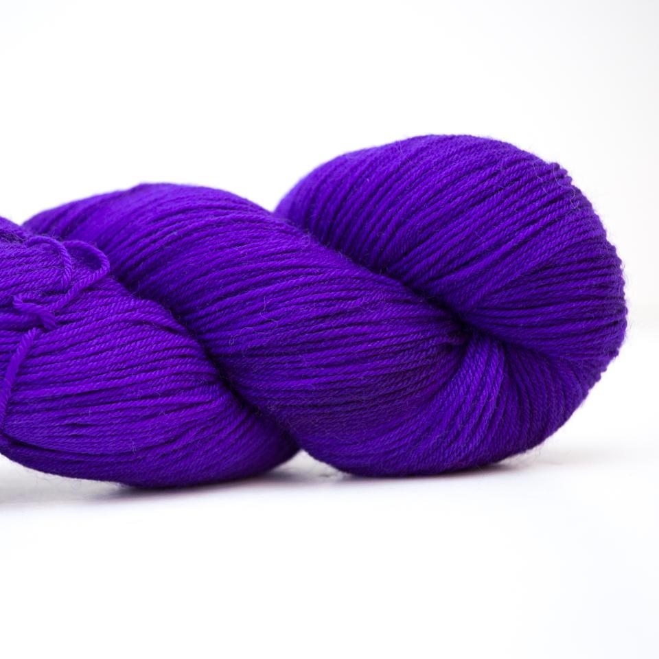 Abstract Fiber Silky Sock, Medium Blue Violet