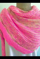 For Yarn's Sake, LLC Hug Shot Shawl Kit - Words and Looks & Lark In the Sky (Purply Pink)