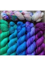 For Yarn's Sake, LLC Hug Shot Shawl Kit - Words and Looks & Glowing Skies (Blue)