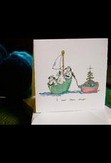 Knit Baah Purl Single Card, I Saw Three Sheep