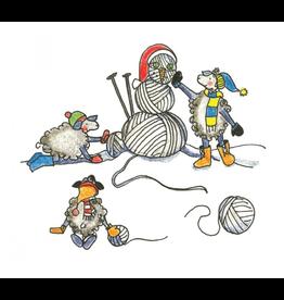 Knit Baah Purl Single Card, Winter Wonderyarn