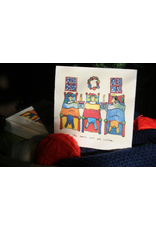 Knit Baah Purl Single Card, The Lambs Were All Nestled