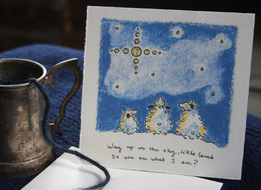 Knit Baah Purl Single Card, Do You See