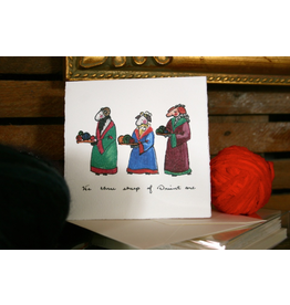Knit Baah Purl Single Card, We THree Sheep (Of Orient Are)