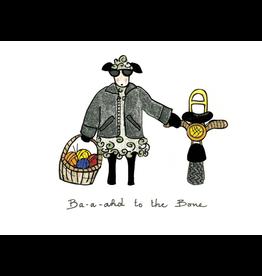 Knit Baah Purl Single Card, Baahd to the Bone