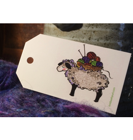 Knit Baah Purl Gift Tag - Pack of 10, Sheep Basket